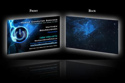 holy fire productions business card portfolio