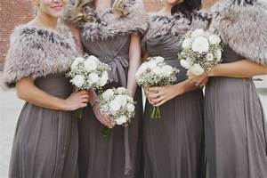 how to keep your bridesmaids warm cozy at a winter With winter wedding bridesmaid dresses