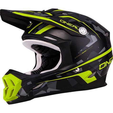oneal motocross helmets oneal 7 series camo yellow grey motocross helmet acu
