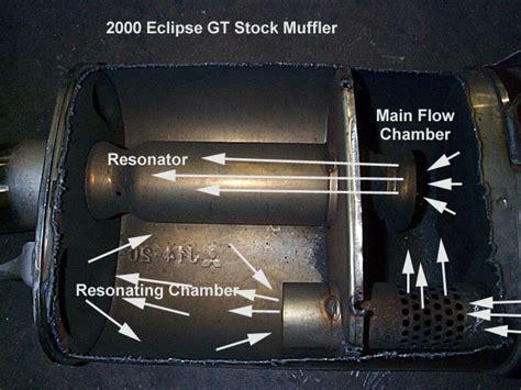 knalpot racing mobil what does stock muffler internals look like vs magnaflow