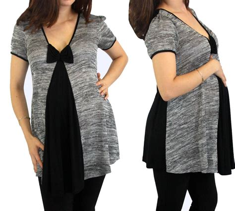 gray black maternity top pregnancy wear womens pregnant