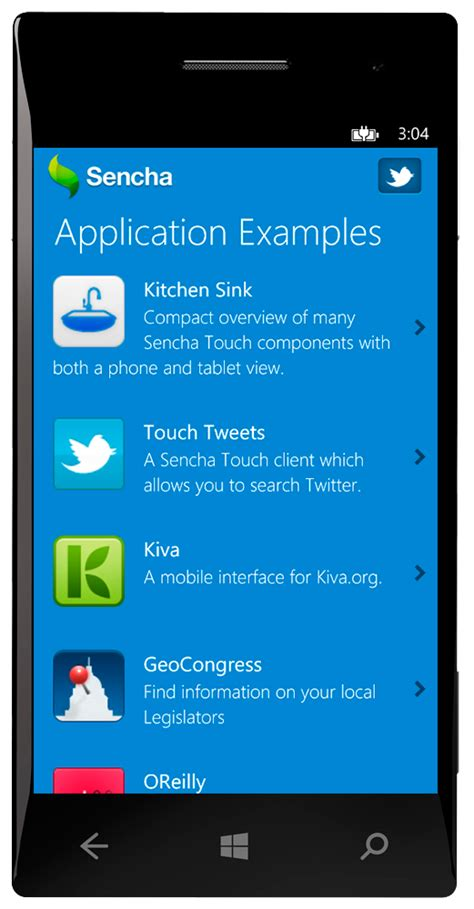 sencha touch with windows phone 8 sdk news