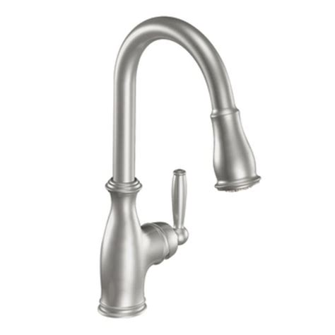 kitchen sink and faucet best moen 7185csl brantford one handle high arc pull