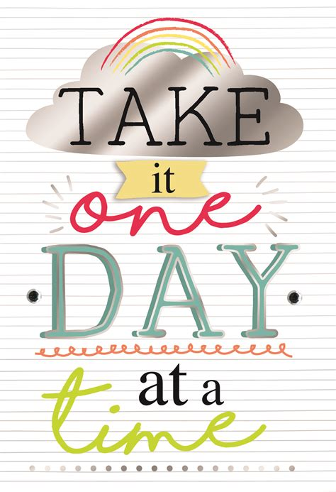 Take One-day at a Time