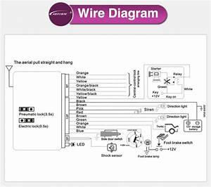 Giordon Car Alarm System Wiring Diagram