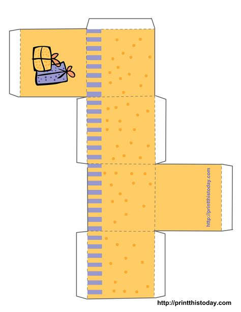 printable birthday favor boxes templates