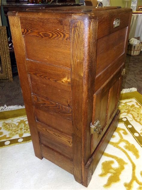 item white clad oak icebox cabinet wine rack bar