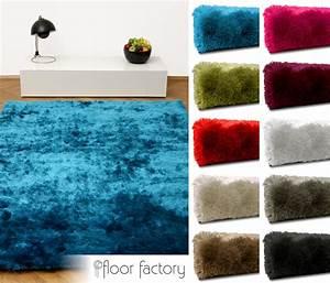 Teppich Hochflor Blau : exklusiver hochflor shaggy teppich satin luxus edition ebay ~ Indierocktalk.com Haus und Dekorationen