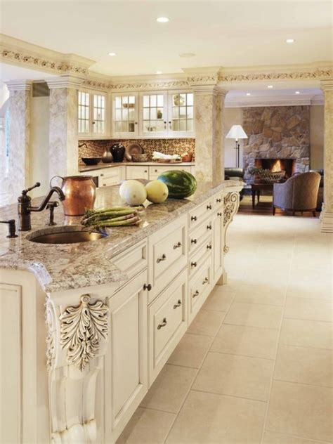 white kitchen cabinets with this color granite counter