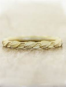 briar gold overlapping leaf ring ken dana design With nature wedding rings