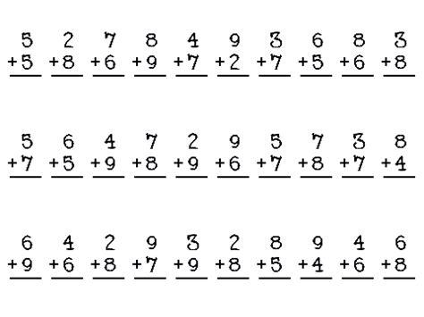 mad math minutes worksheets math drills worksheetsmath