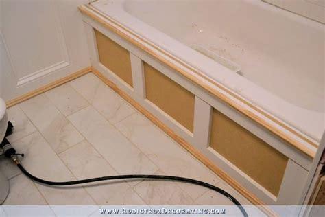 Diy Tub Skirt (decorative Side Panel) For A Standard Apron Bathroom Mirror Door Clock Under Sink Storage Hanging Vanity Ikea Illuminated Cabinet Next Corner Vessel Vanities