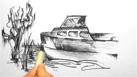 skizze  ein boot  ufer sketch   boat   shore