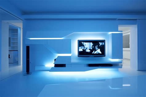 Led Lights For Living Room Next by White Apartment By Next Level Studio