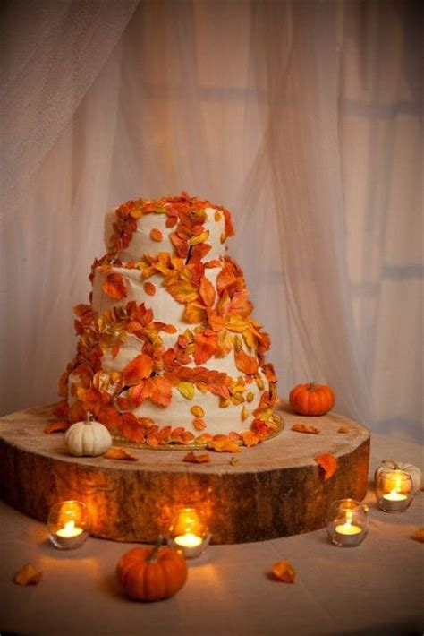 fun pumpkin wedding cake ideas  fall weddingomania