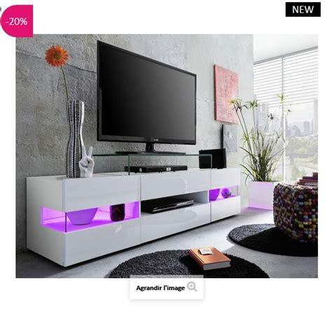Banc Tv Design Led Maximilian Atylia  Meuble Tv Atylia