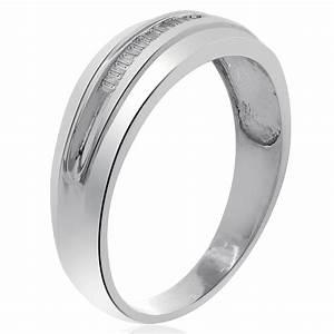020 carat mens baguette cut diamond wedding band 10k for Mens wedding rings baguette diamonds