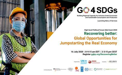 HLPF 2020 Side Event | Recovering Better: Global ...