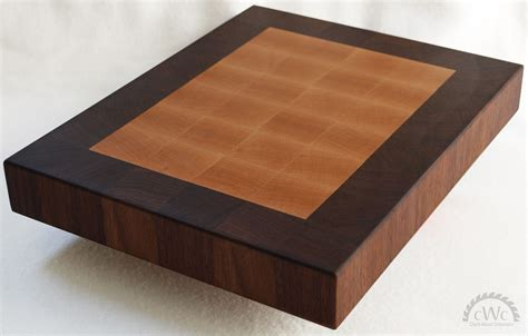 Hand Made Cutting Board  Solid Walnut And Maple End Grain