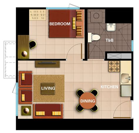 1 Bedroom Unit Layout by Avida Towers Intima Designed For One S Exclusive Use Pres