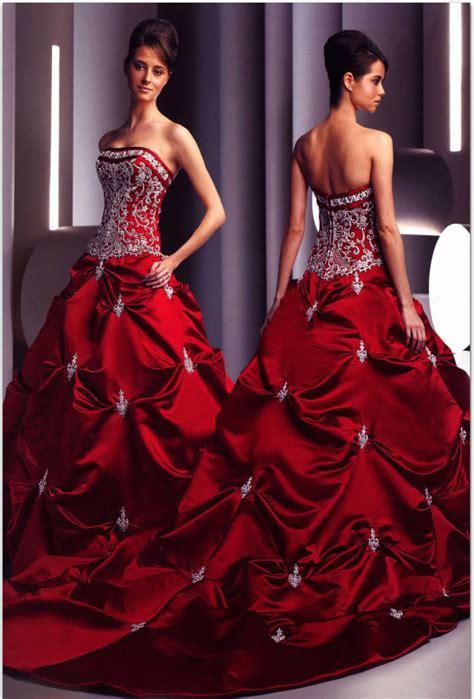 bridesmaid dresses  red  white elegant