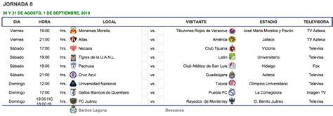 cual es el calendario del apertura de la liga mx