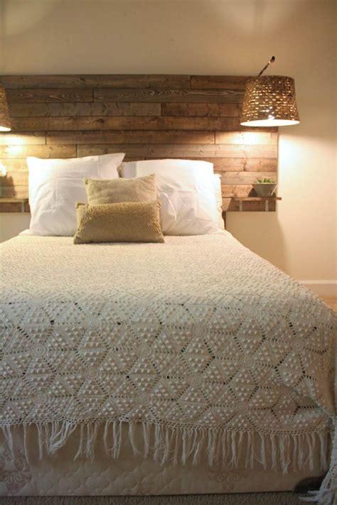 tete de lit chambre comment fabriquer une tête de lit originale