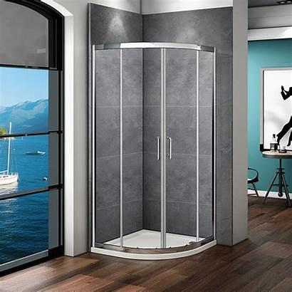 Shower Door Glass Corner Quadrant Tray Sliding