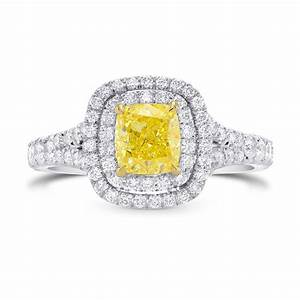 156cts yellow diamond engagement halo ring set in With yellow diamond wedding rings