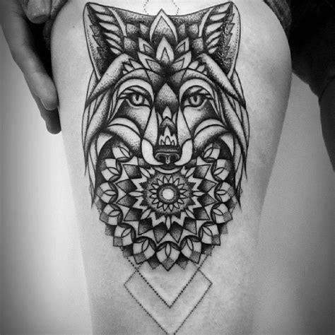 fox mandala  tattoo design ideas