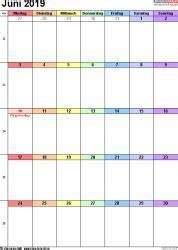 kalender juni als word vorlagen