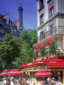 Eiffel Tower Paris France Cafe