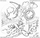 Detective Banana Coloring Outline Illustration Royalty Clipart Rf Alex Bannykh sketch template
