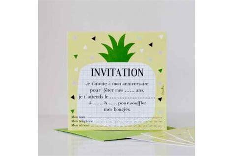 jeux de fille cuisine invitation pour les anniversaires de filles thème ananas