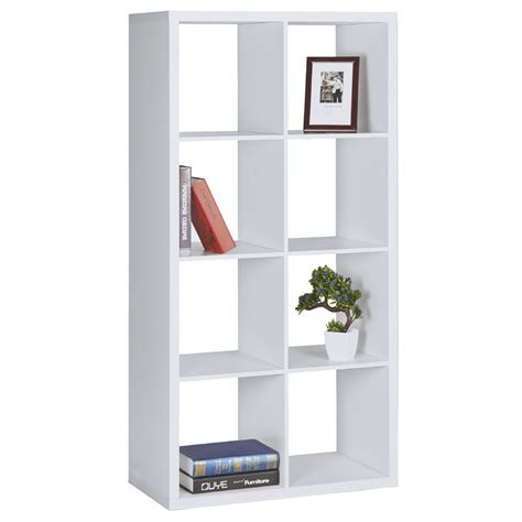 White Bookshelf by Horsens 8 Cube Bookshelf White Ebay