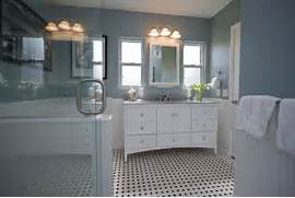 Bathrooms With Black And White Tile by Traditional Black And White Tile Bathroom Remodel Traditional Bathroom