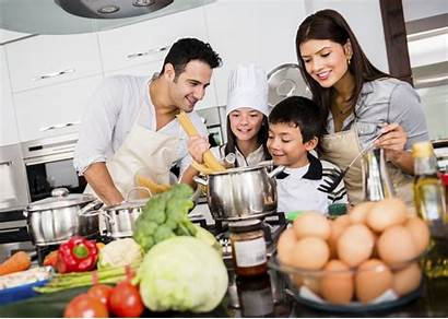 Cooking Together Pasta Dinner Happy Recipe Meal