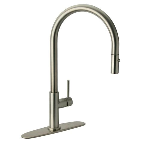 glacier bay pull kitchen faucet glacier bay carmina single handle pull sprayer