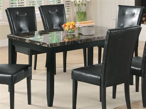 black marble kitchen table coaster anisa dining table black marble top 102791 at