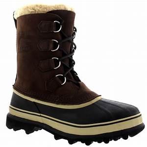 Mens Sorel Caribou Winter Snow Waterproof Fleece Lined Mid ...