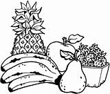 Coloring Pages Salad Fruit sketch template