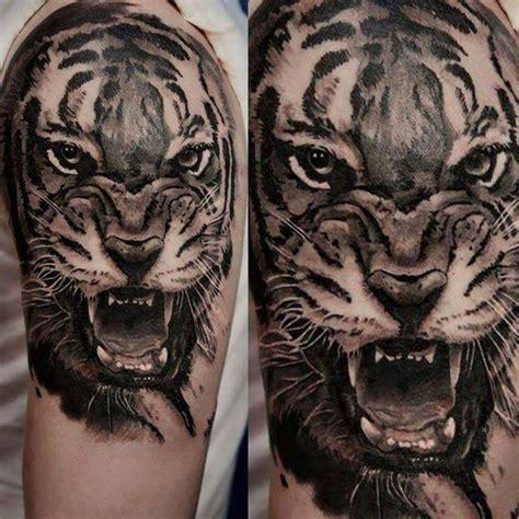 roaring tiger tattoo   sleeve  kory angarita