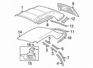 Ford Mustang Top ASSEMBLY seal. Weatherstrip. Upper, rear. TRIM - 1R3Z7654000AA | Lakeland Ford ...