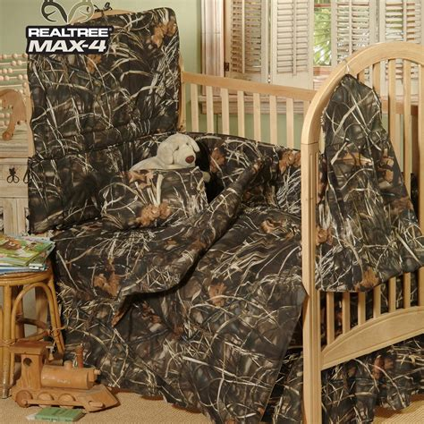 realtree camo bedding 3 piece realtree max 4 crib set