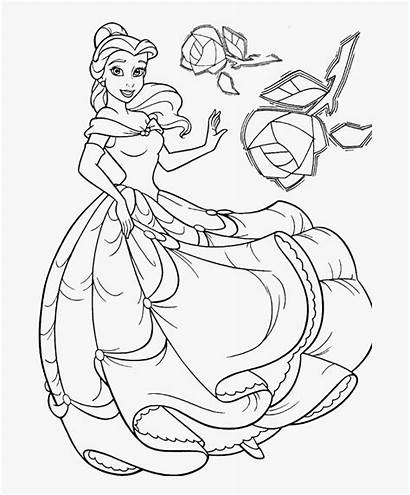 Coloring Belle Disney Princess Slavyanka