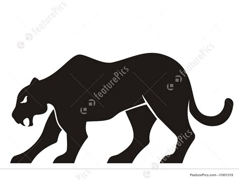 Illustration Of Panther Silhouette