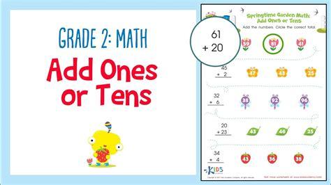 adding tens and ones worksheets for kindergarten kidz