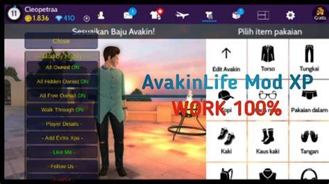 avakin mod menu xp plus latest
