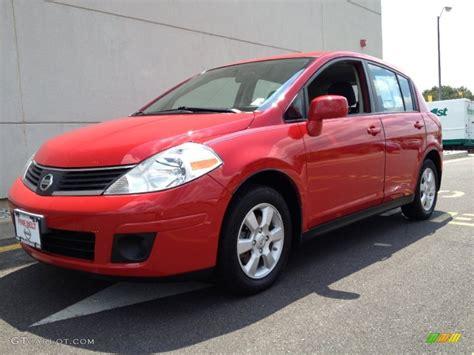 red nissan versa 2009 red alert nissan versa 1 8 sl hatchback 68830048