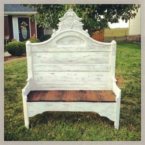 shabby chic bench bench from bed post shabby chic benches pinterest